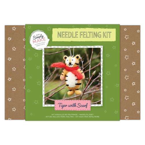 Tiger with Scarf Needle Felting Kit - Simply Make