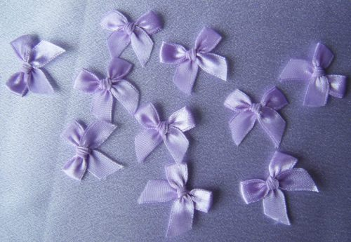 Organdie Lilac Bows (Pack of 10)