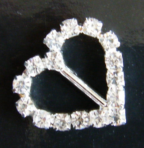 Diamante buckle ribbon sliders