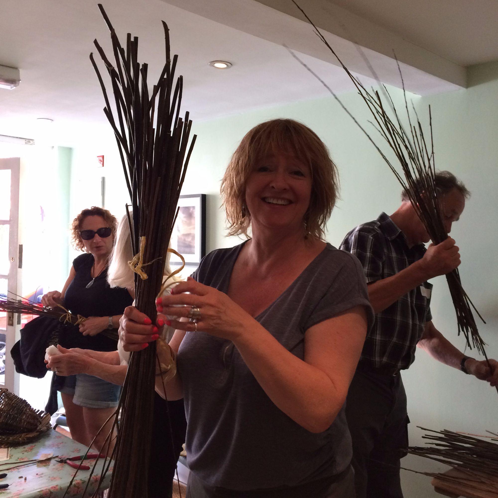 Basket Making Workshop: Platter and Herb Basket - Homework!