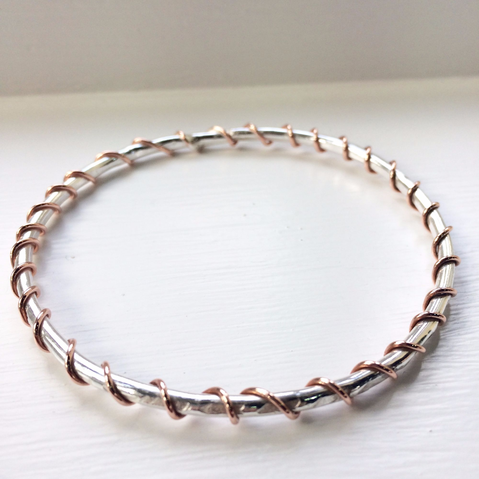 Silver Bangle Workshop - Twisted Copper