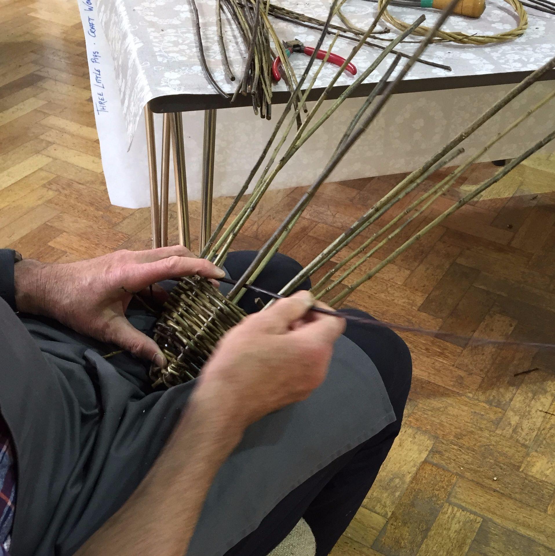Basket Making Workshop: Platter and Herb Basket - Weaving