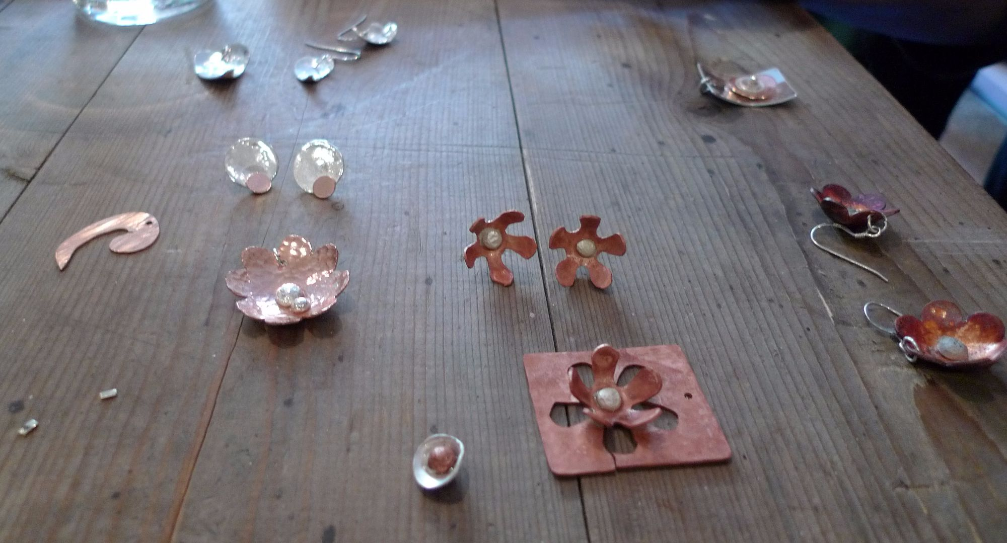 Silver Earrings and Pendant Workshop - Copper