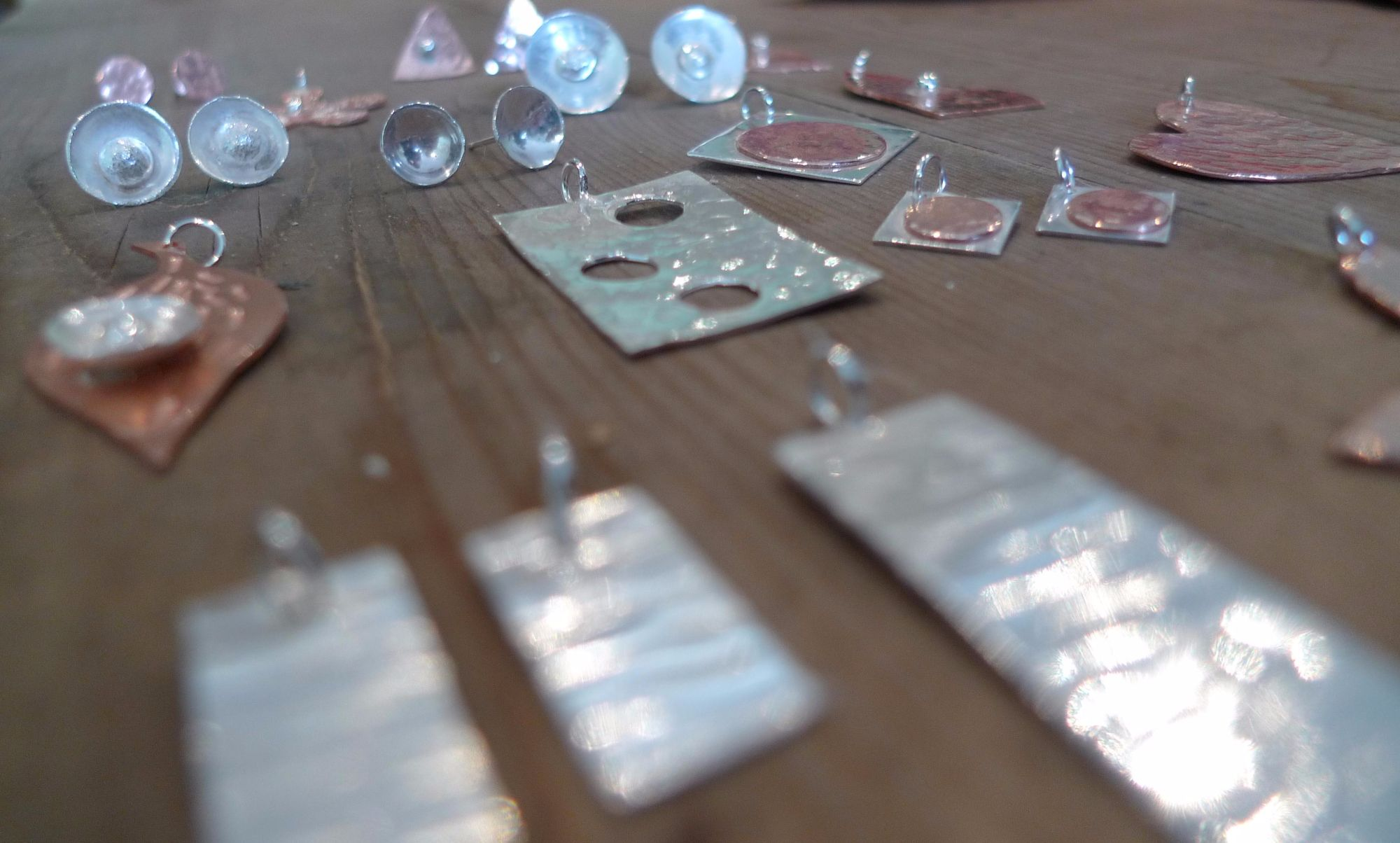 Silver Earrings and Pendant Workshop - Earrings and Pendants