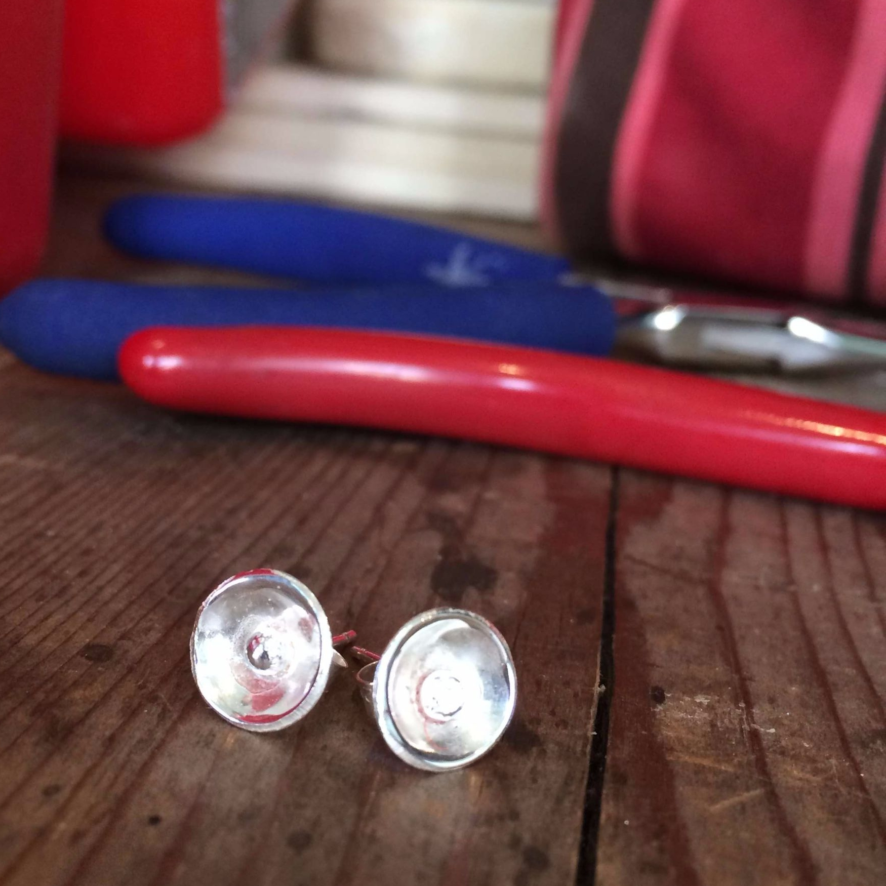 Silver Earrings and Pendant Workshop - Silver Domes