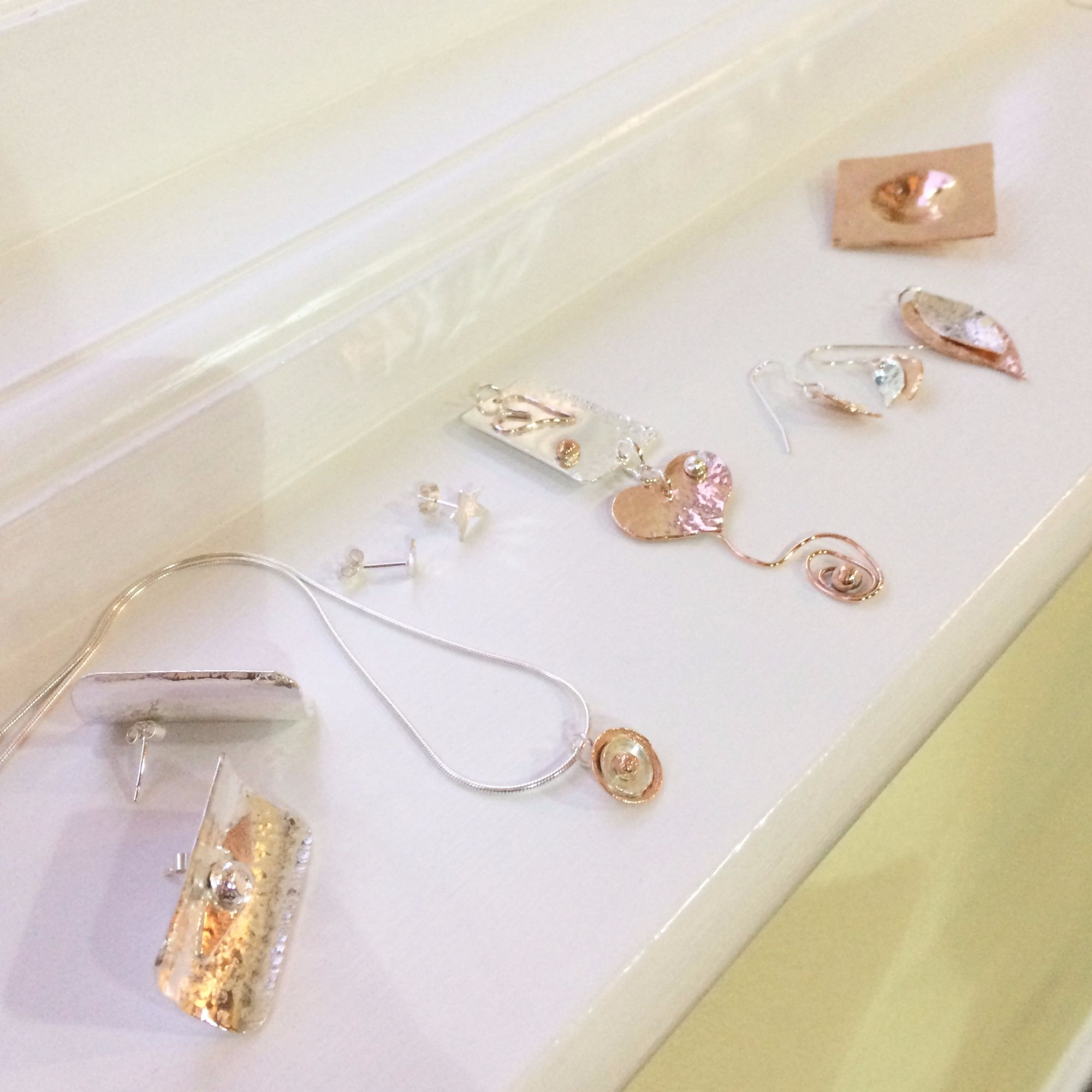 Silver Earrings and Pendant Workshop - Silver and Copper Collection