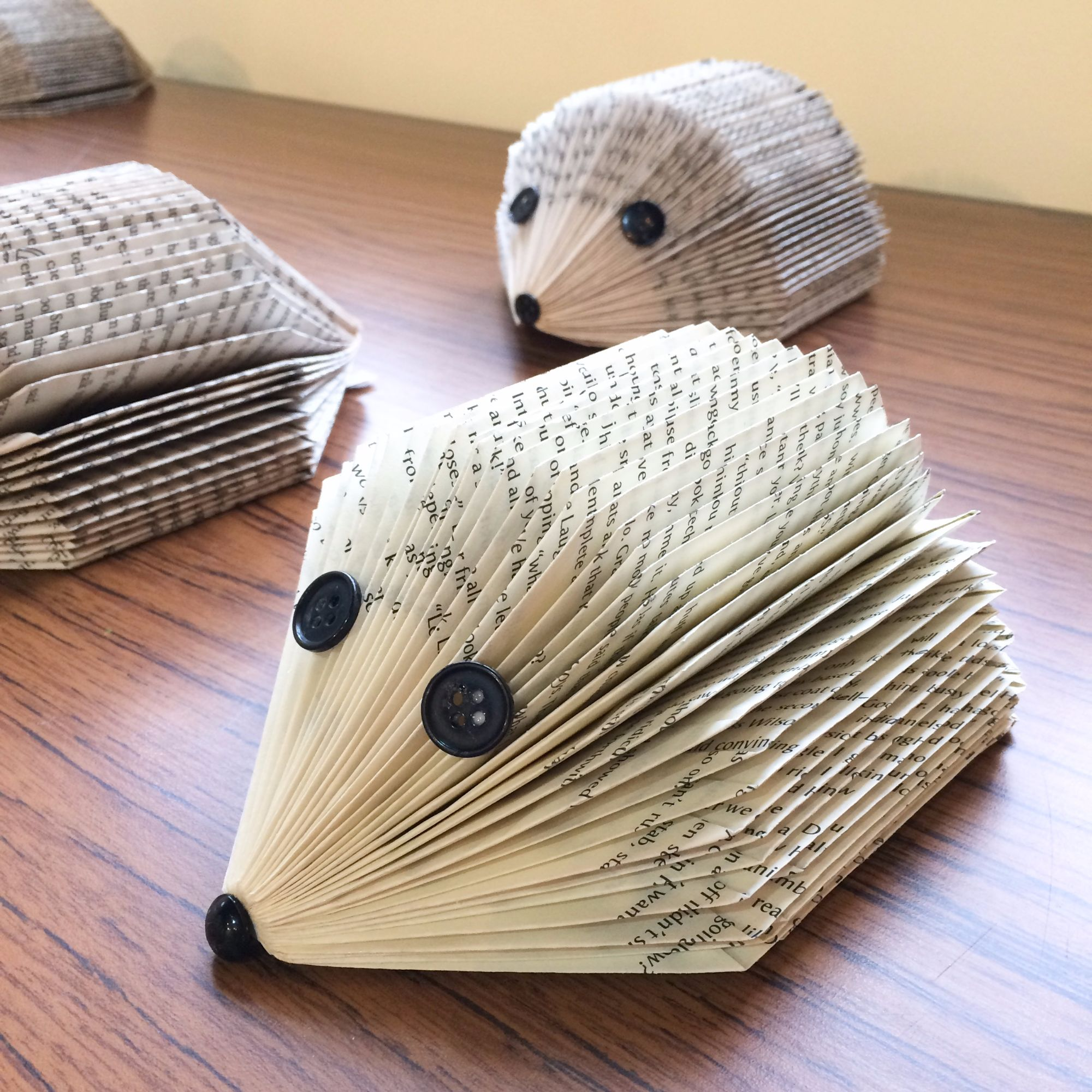 Folding Pages Book Art Workshop - Hedgehogs