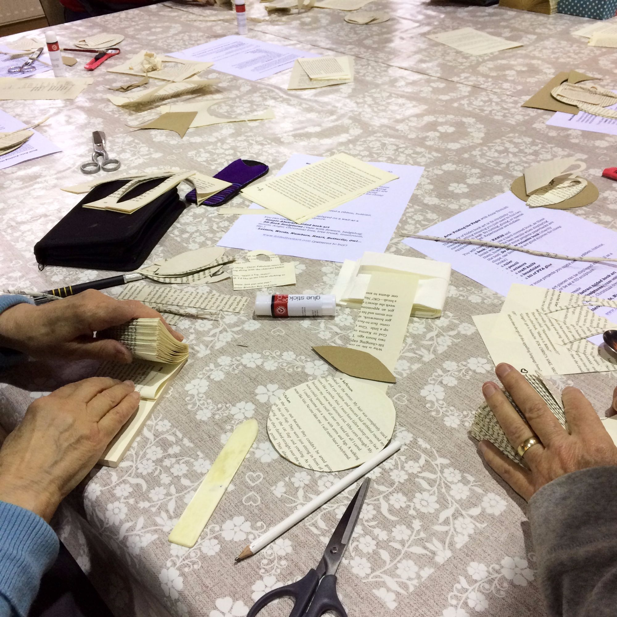 Folding Pages Book Art Workshop - The Beginnings