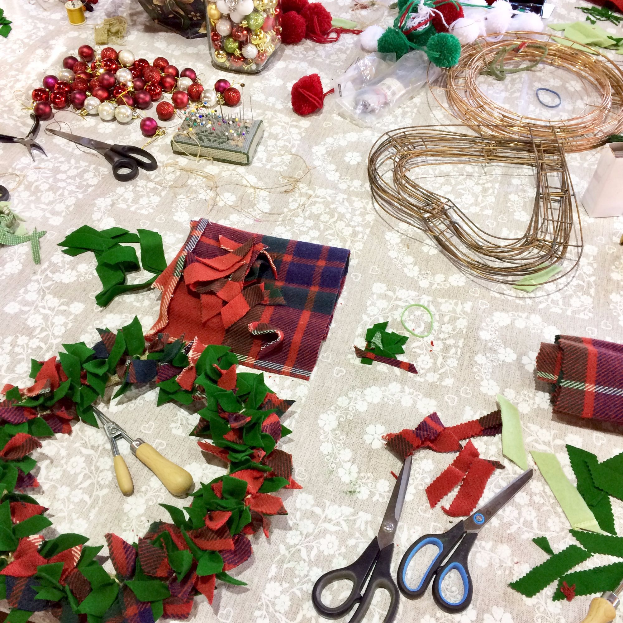 Rag Wreath Making Workshop 1