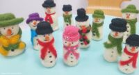 <!-- 065 --> Christmas Snowmen Needle Felting Workshop - Sunday 9th December 2018