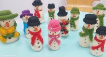 Christmas Snowmen Needle Felting Workshop - Sunday 9th December 2018