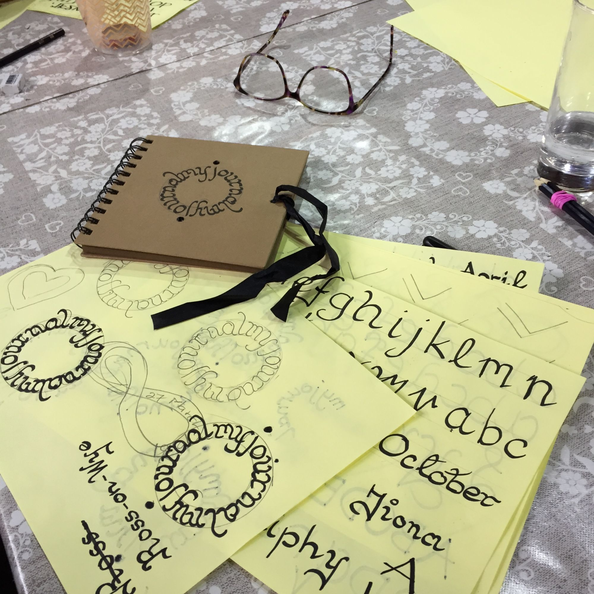 Calligraphy Workshop - Worksheets and Journal