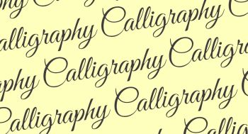 Calligraphy Workshop - Monday 8th July 2019