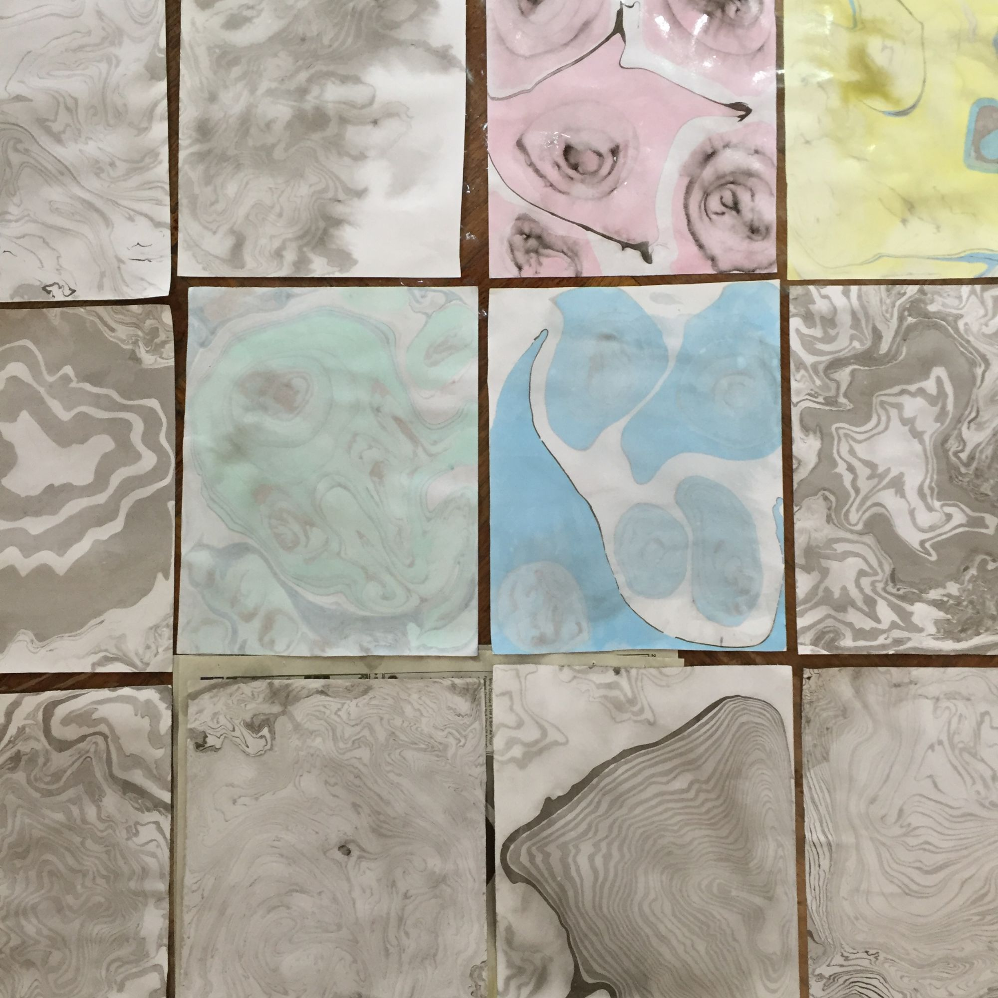 Japanese Marbling and Travellers Leather Journal Workshop - Papers