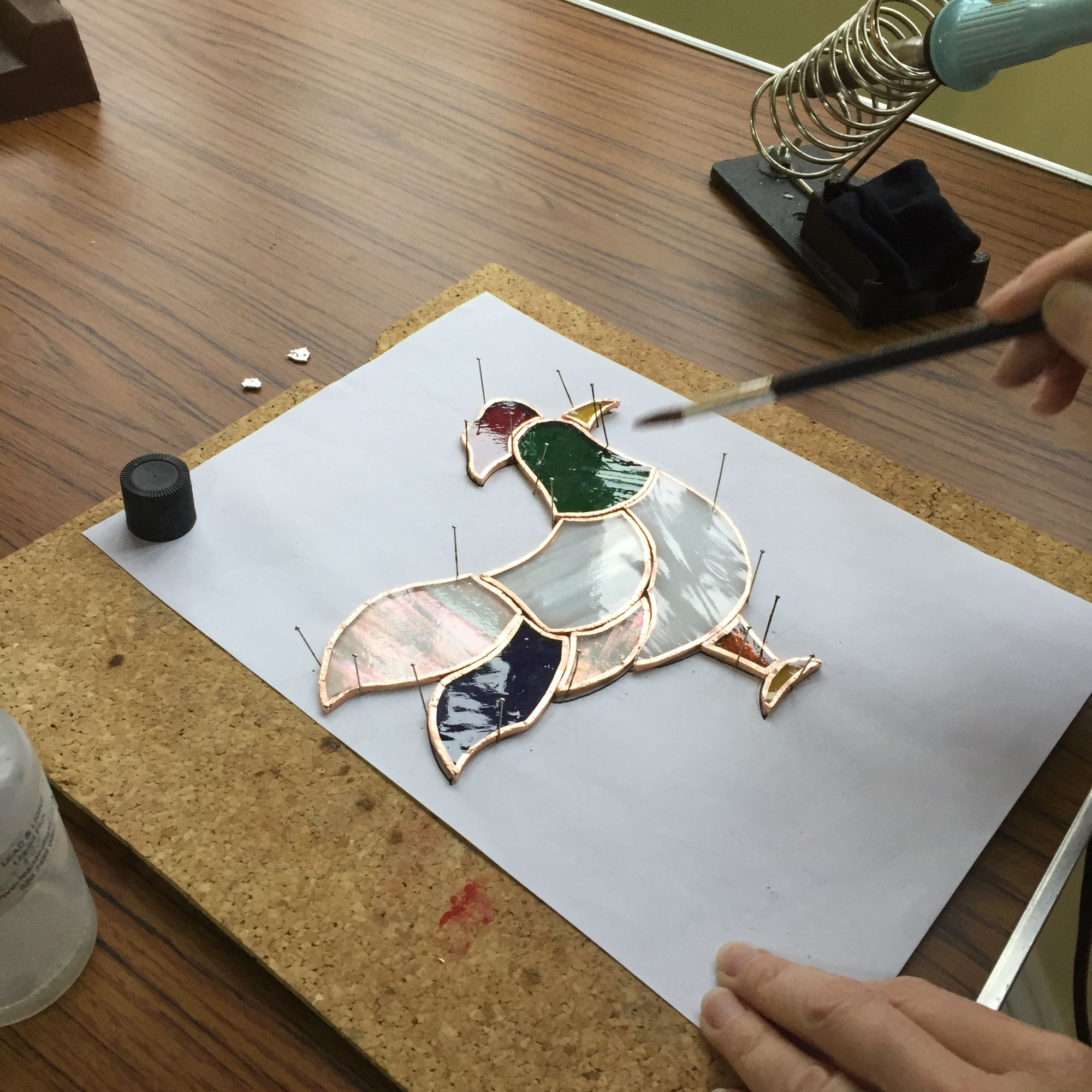 Stained Glass Workshop - Soldering