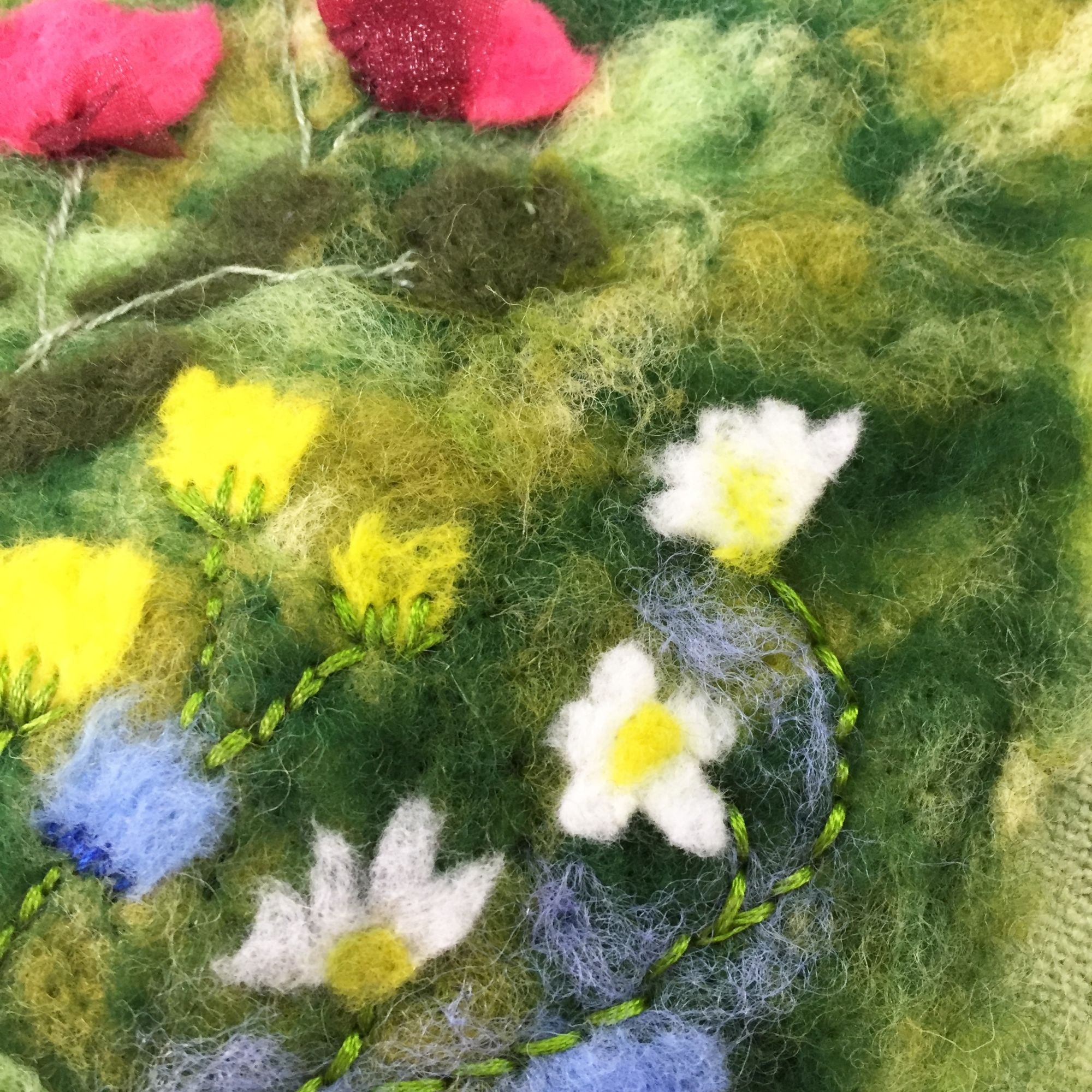 Picture Needle Felting Workshop - Stitching