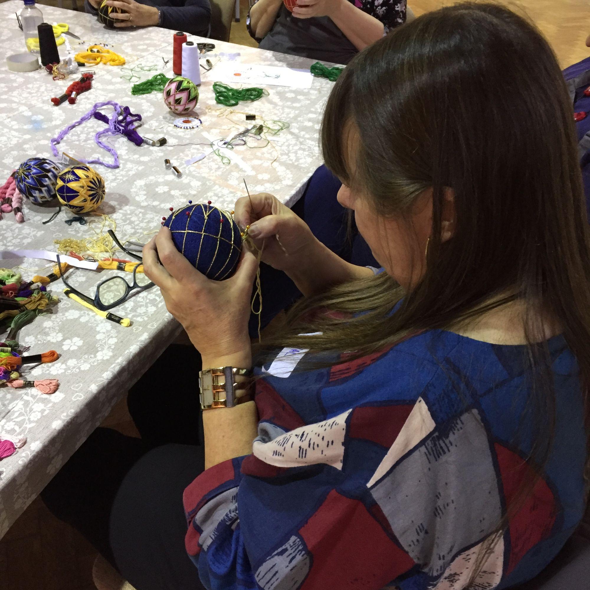 Temari Ball Making Workshop  - Stitching