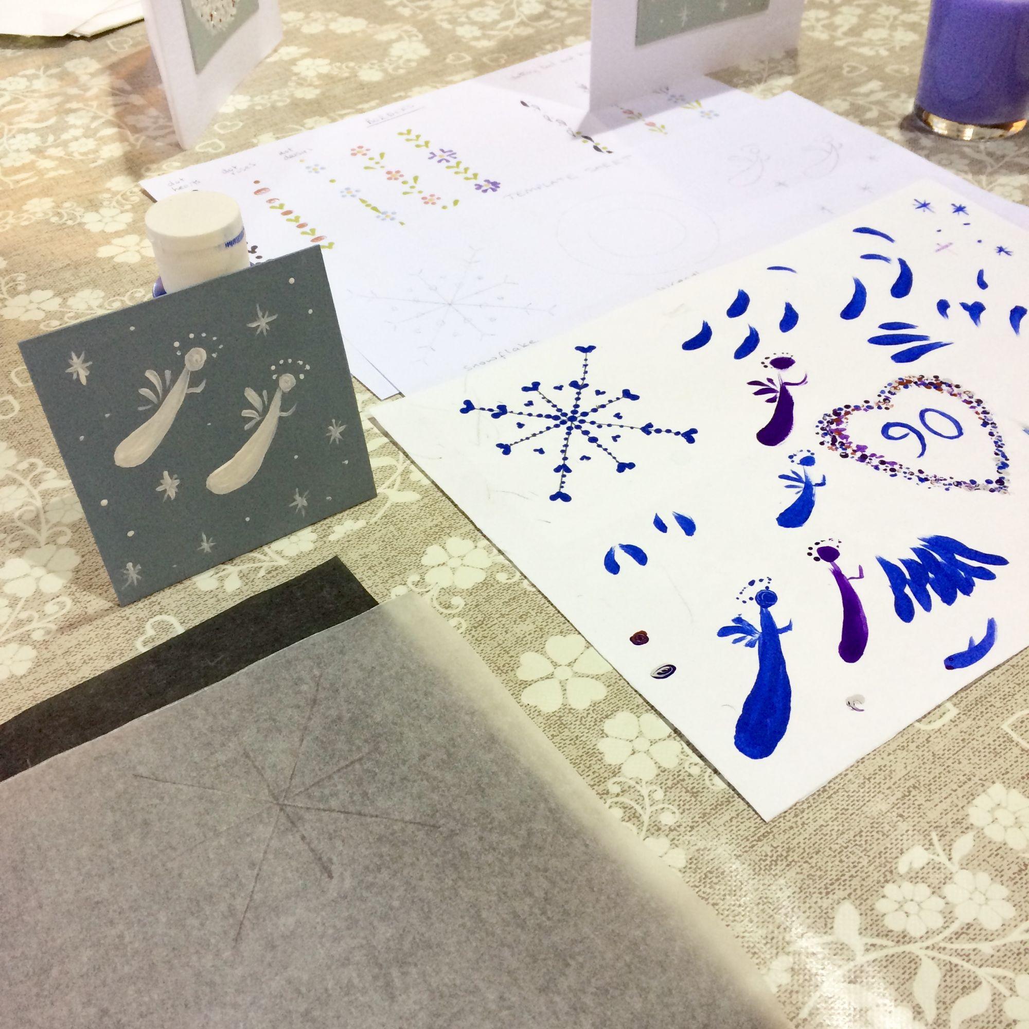 Festive Folk Art Painting Workshop - Angels