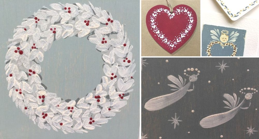<!-- 078 --> Festive Folk Art Painting Workshop - Thursday 21st November 20