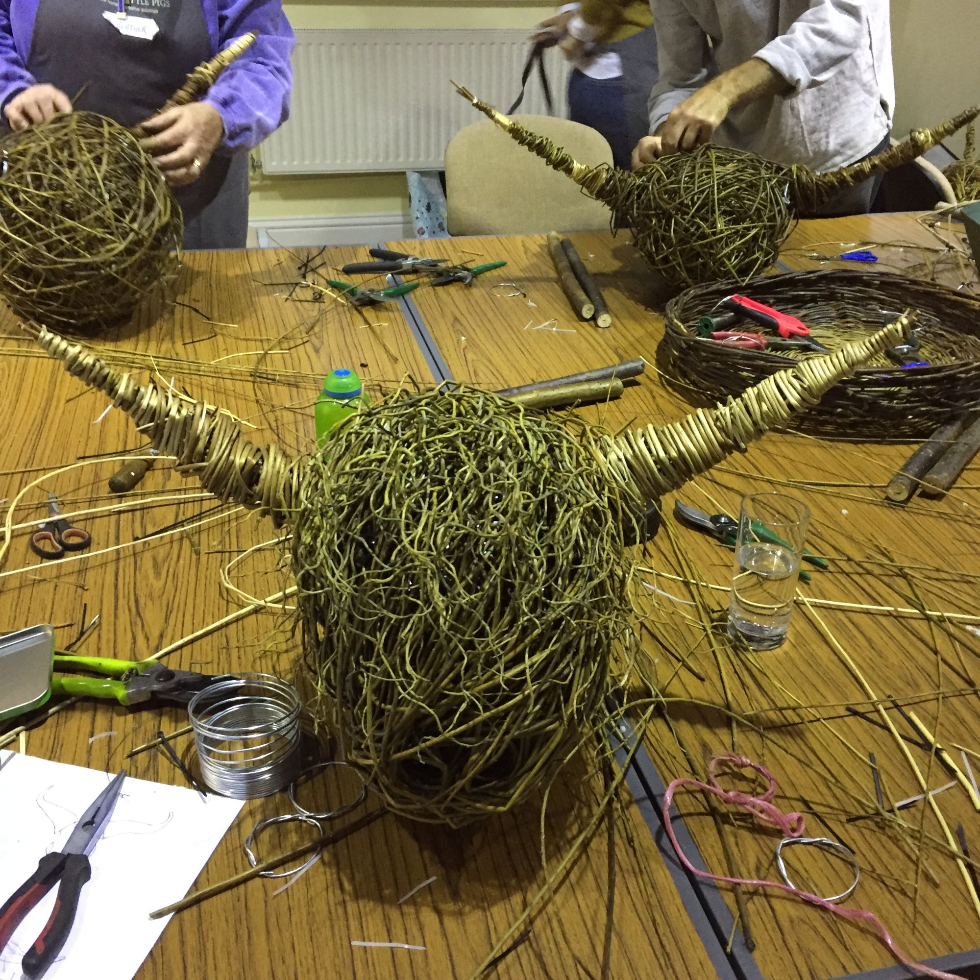 Willow Highland Cow Sculpture Workshop
