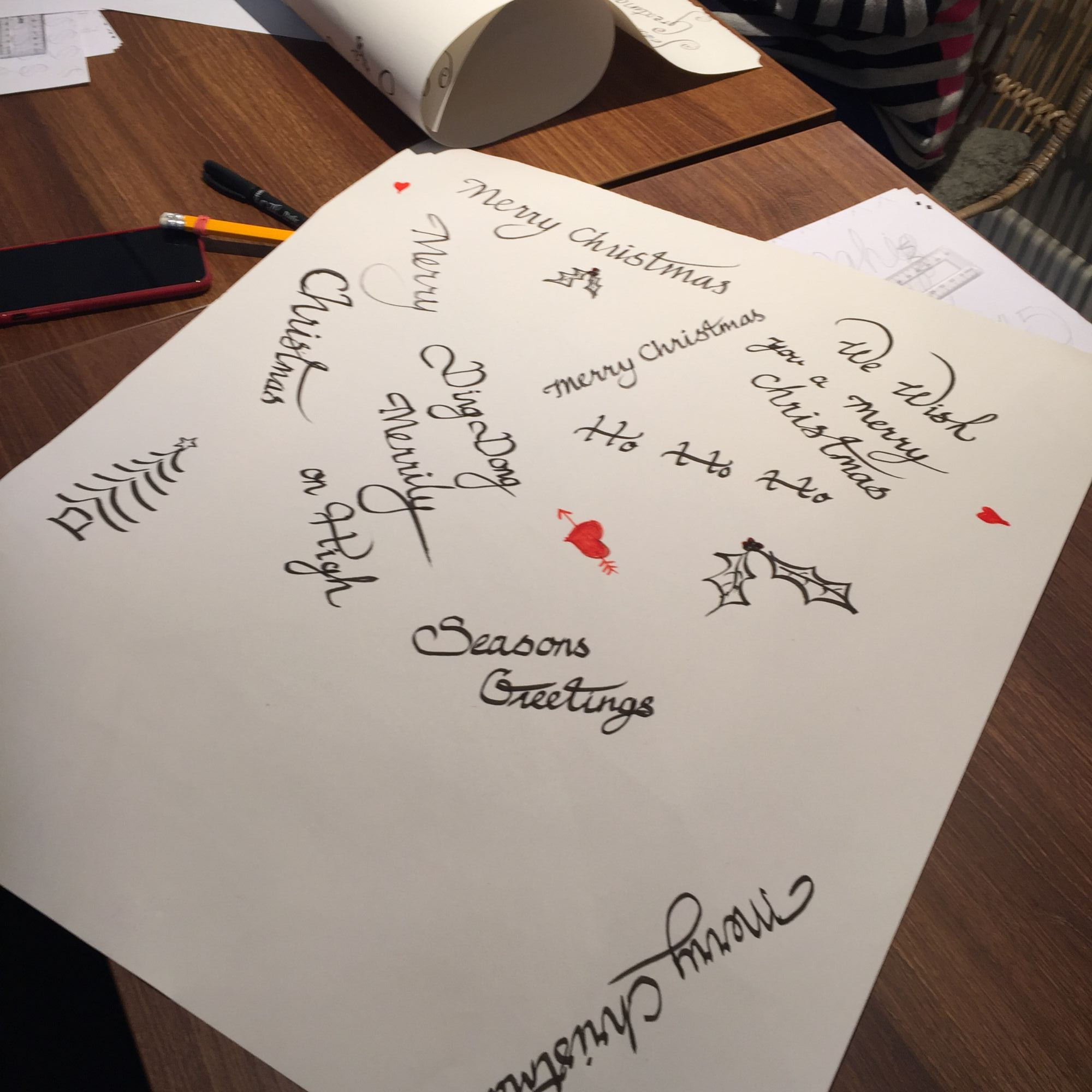 Christmas Calligraphy Workshop - Personal Style