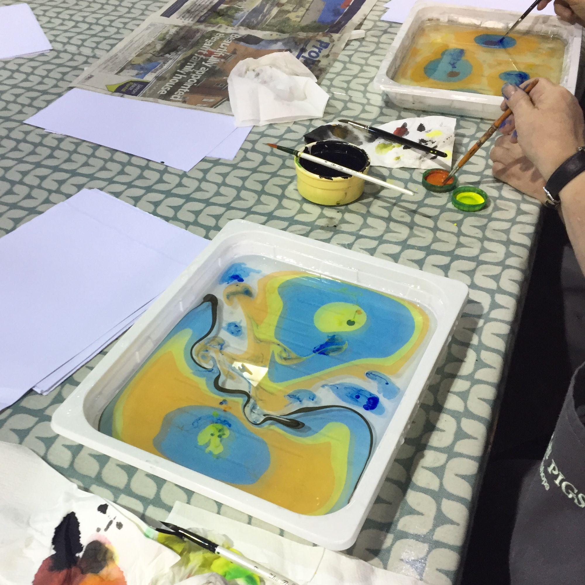 Japanese Marbling Workshop - Exploring Colour