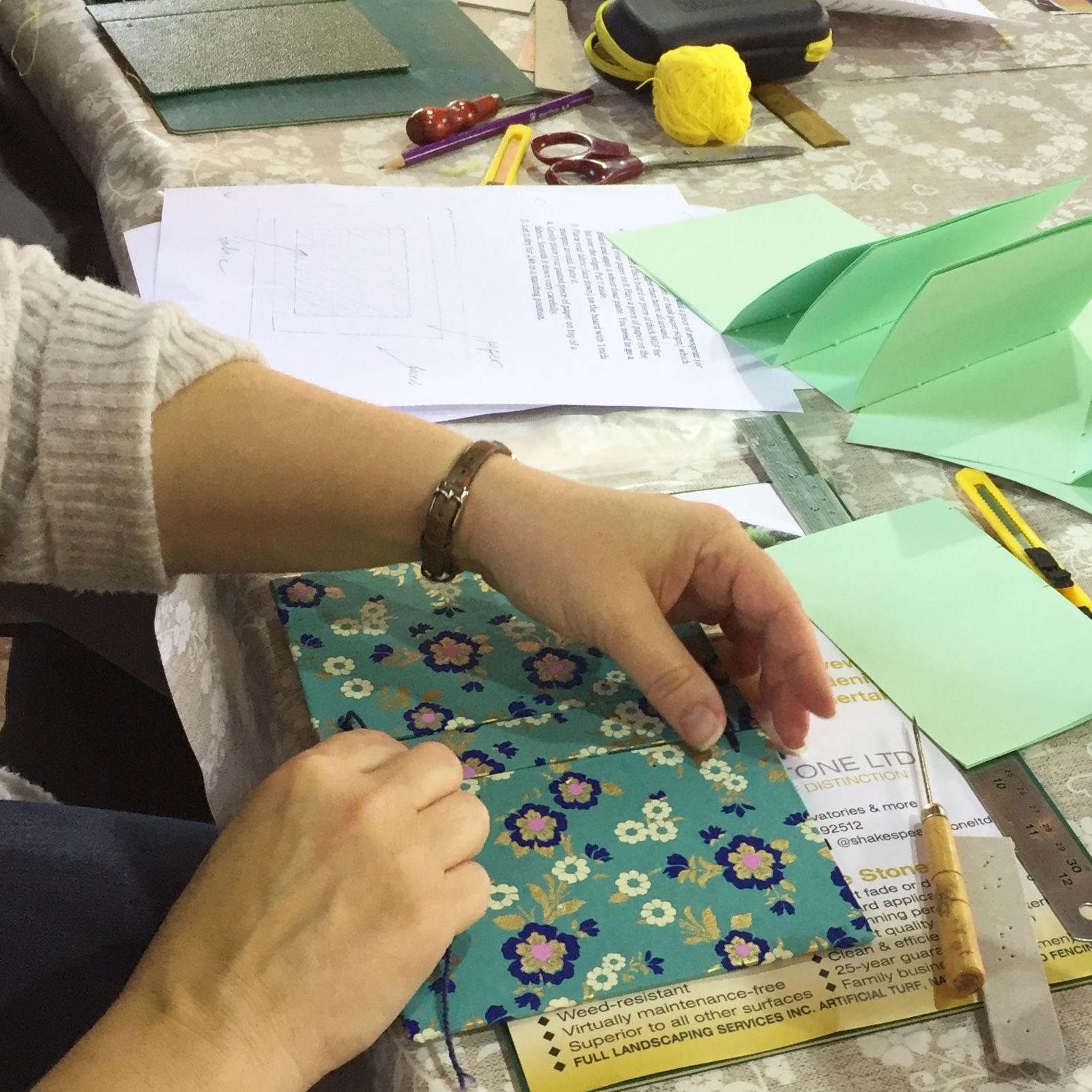 Secret Belgian Bookbinding Workshop - Bookbinding