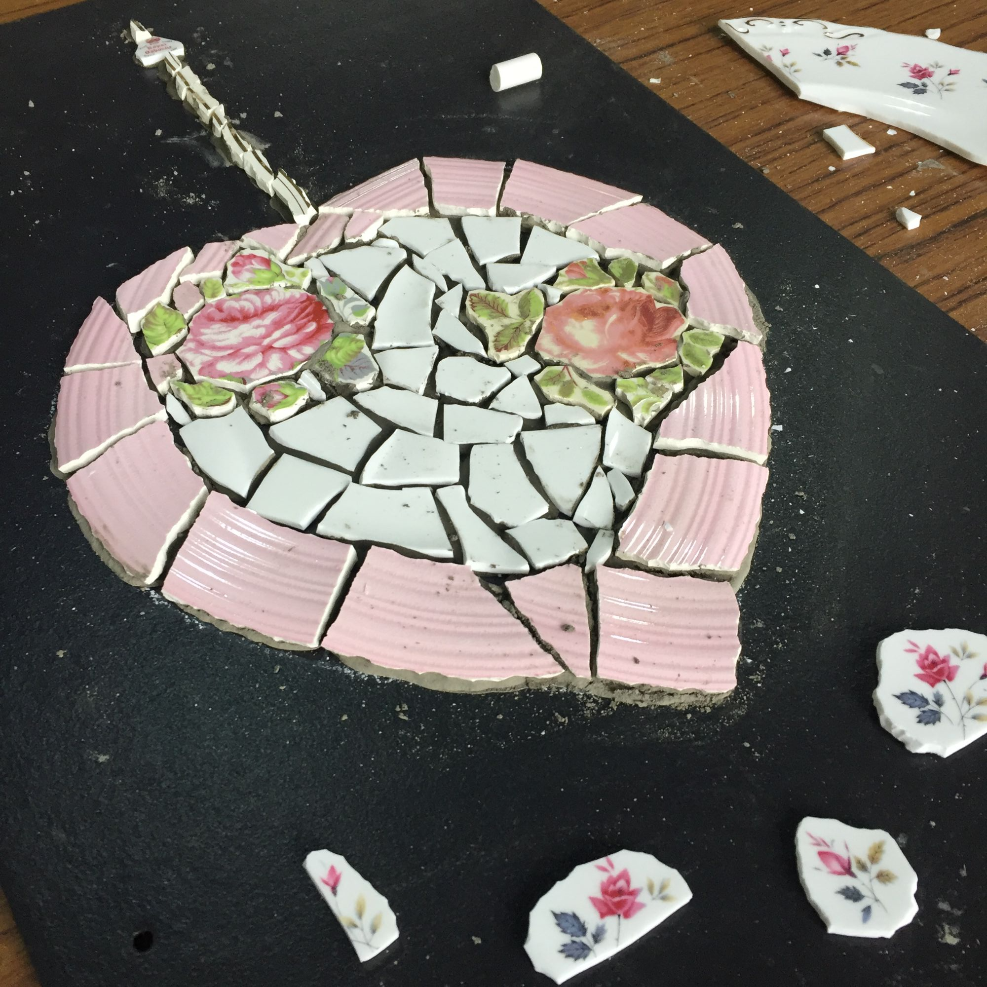 Crockery Mosaic Workshop - Flowers