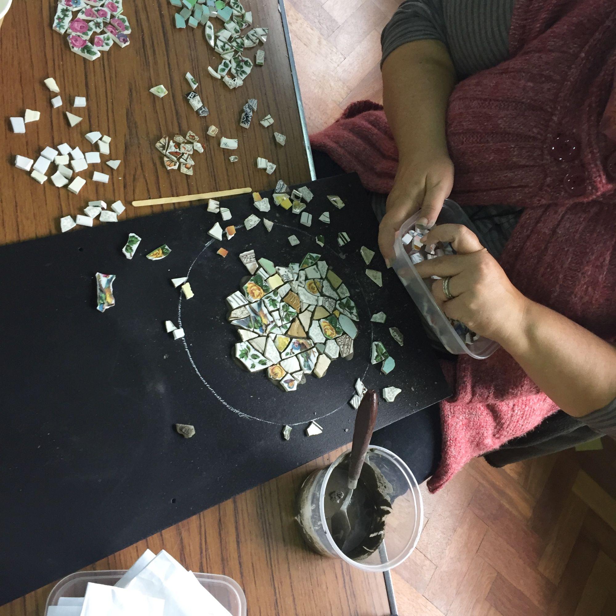 Crockery Mosaic Workshop - Pieces