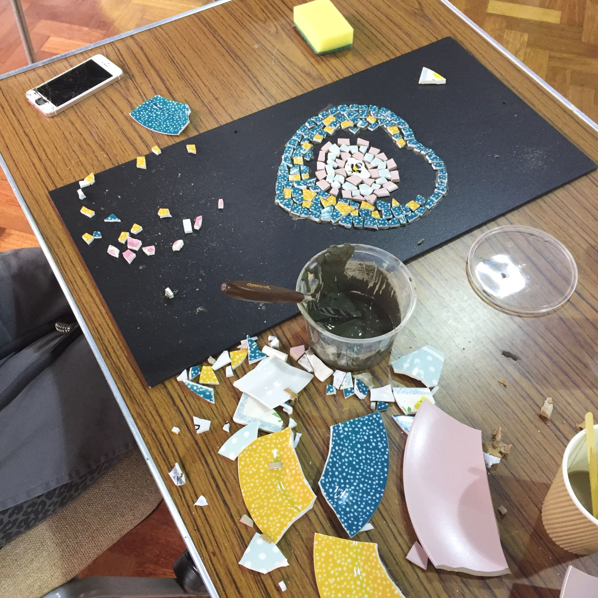 Crockery Mosaic Workshop - Hearts