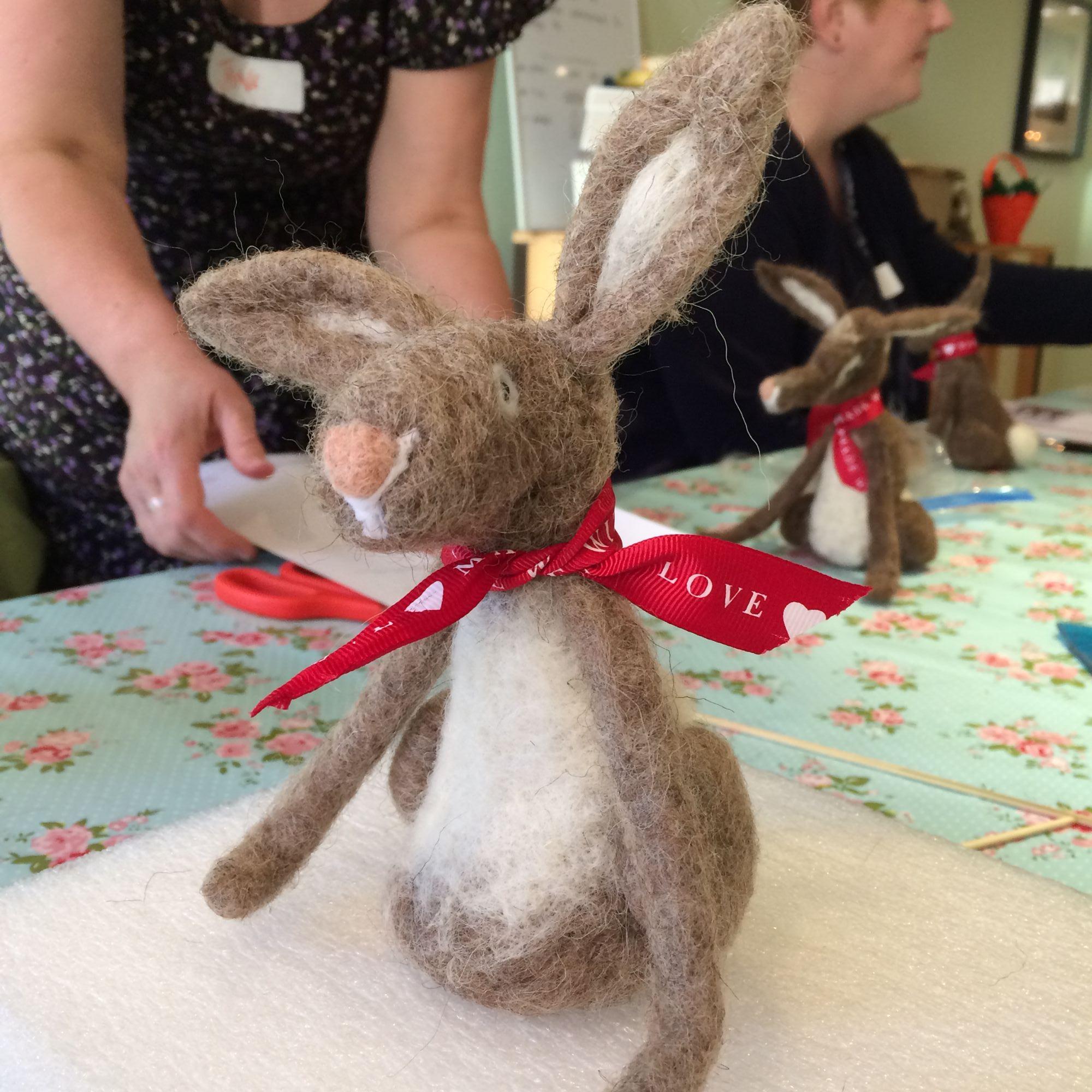 Hare Needle Felting Workshop - Hare