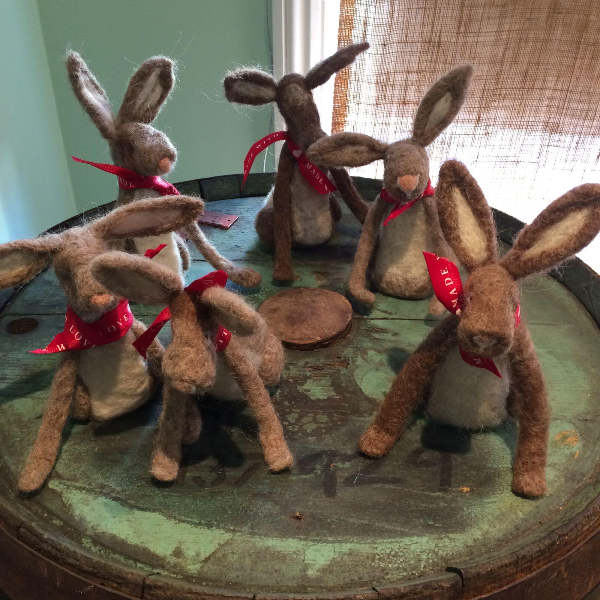 Hare Needle Felting Workshop - Dry Felting