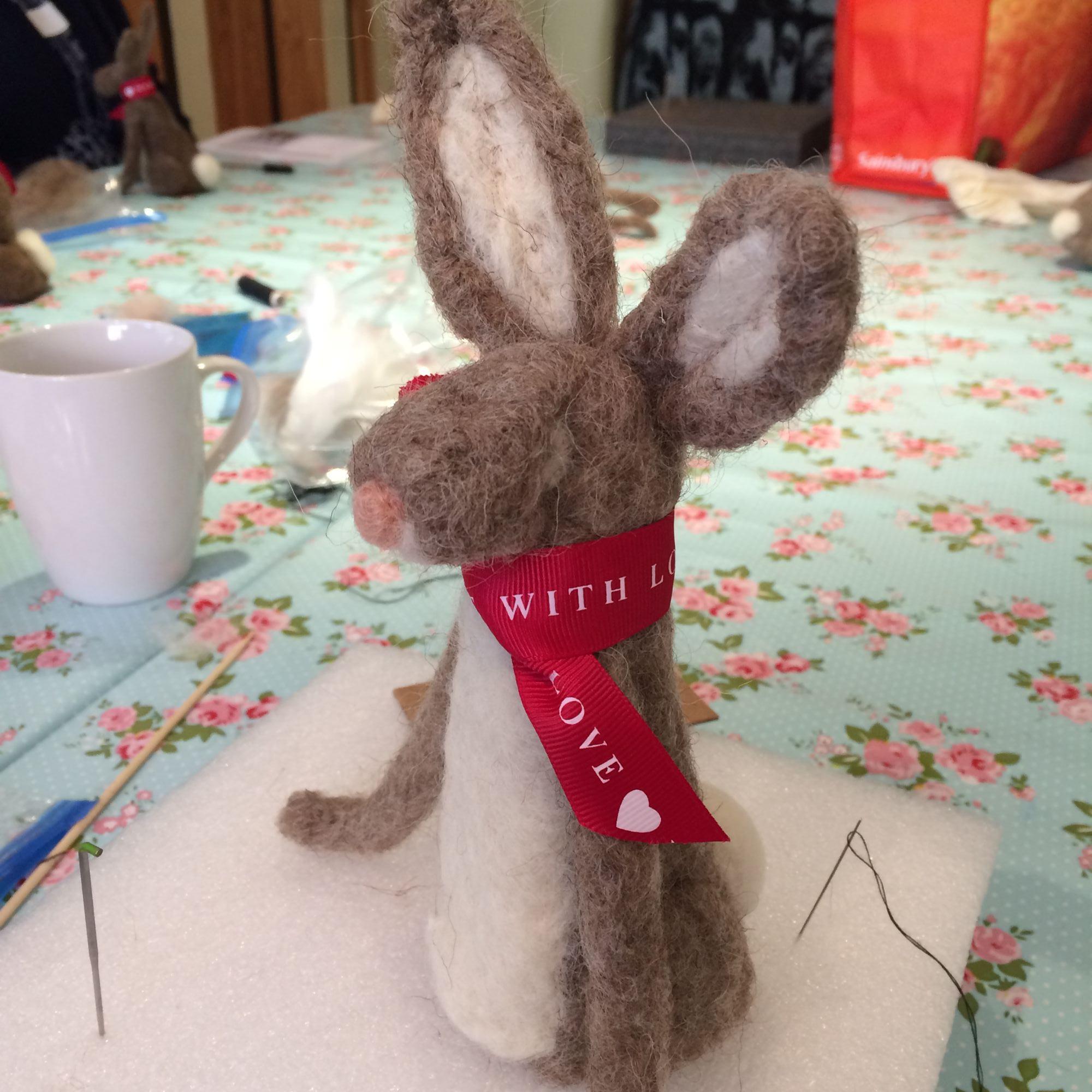Hare Needle Felting Workshop - Needle Felting