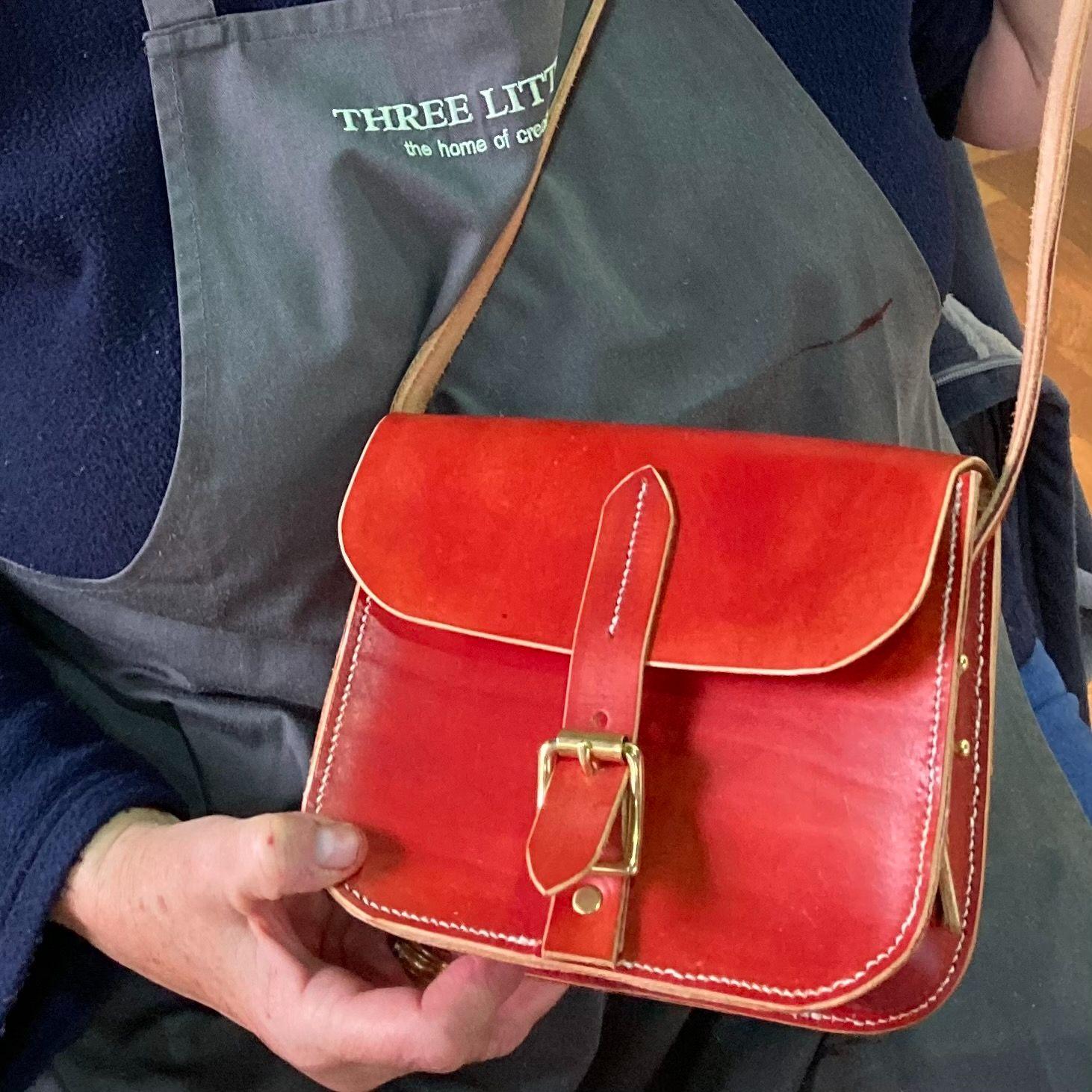 Mini Leather Satchel Workshop - Mahogony