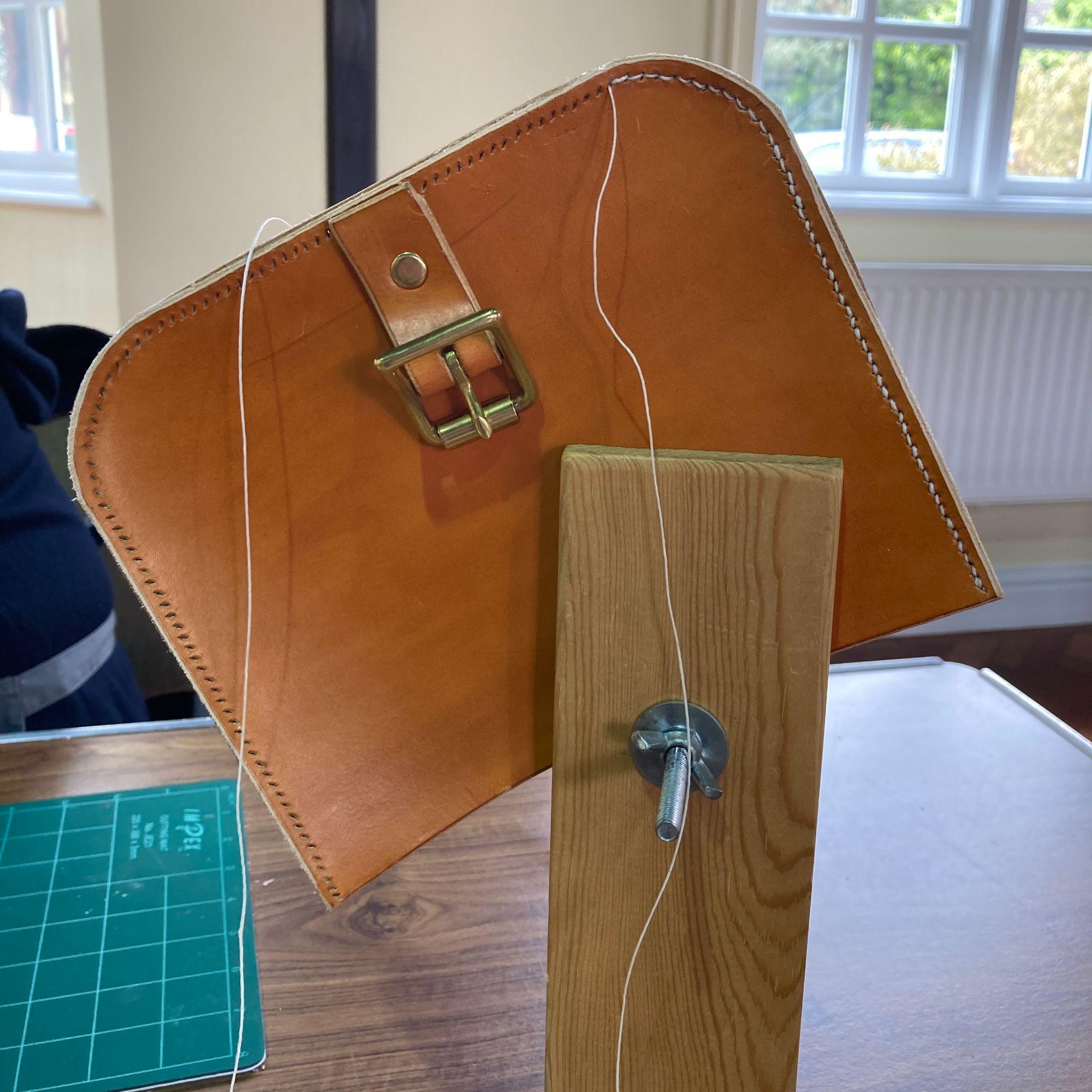 Mini Leather Satchel Workshop - Saddle Stitching