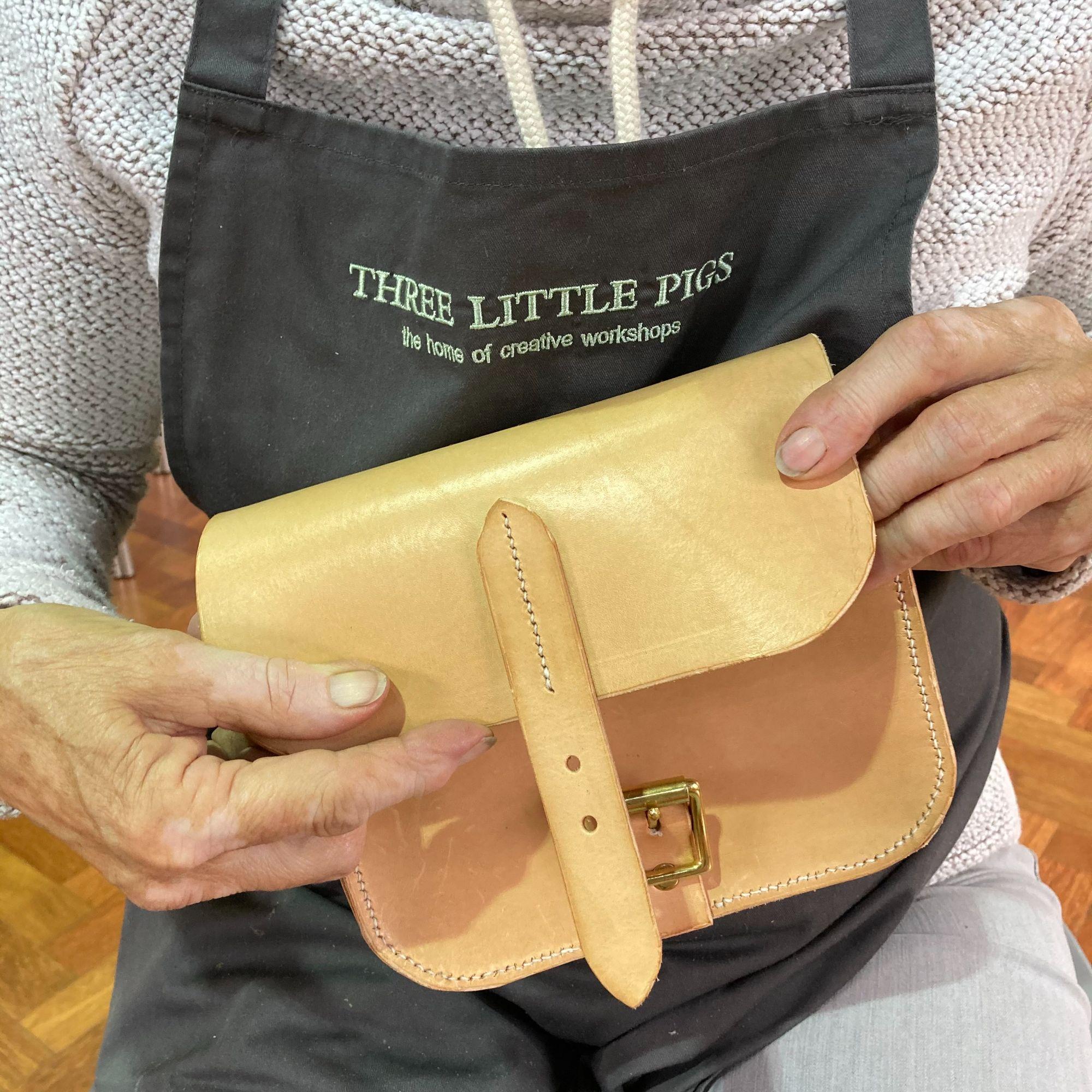 Mini Leather Satchel Workshop - Natural