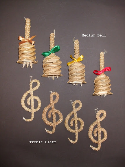 4 Medium Handbells & Treble Clefs