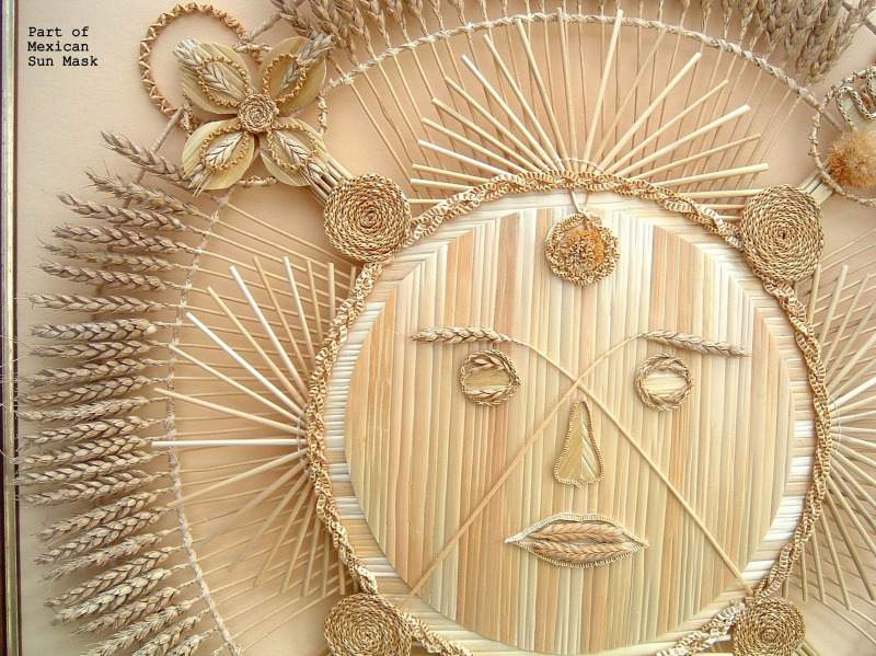 part of mexican sun mask