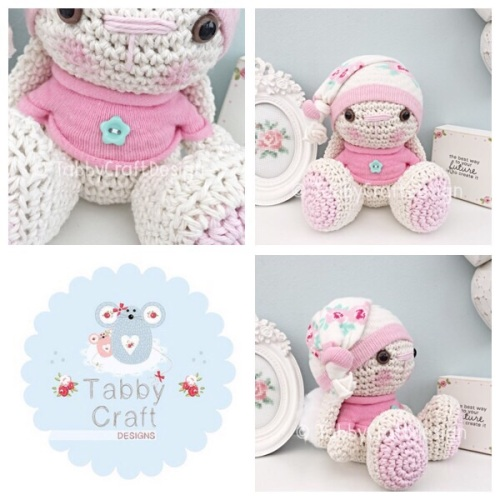 Beanie Bunny in Jumper - Pink and Ivory