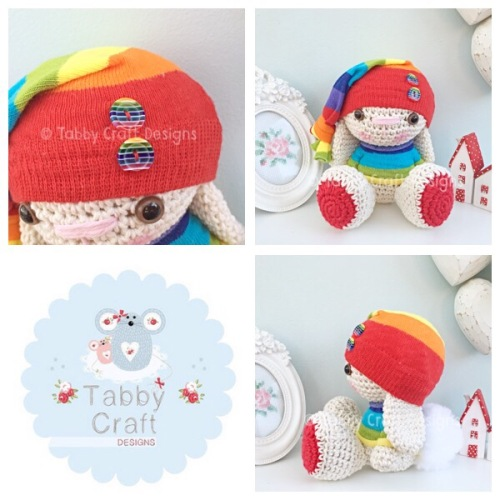 Rainbow Beanie Bunny in Jumper - Multi
