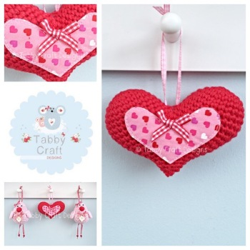 Small Hanging Valentines Heart - Red