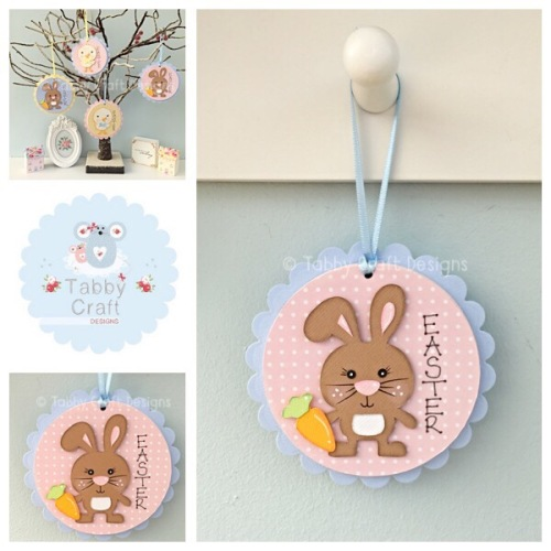Easter Bunny Dangly - Blue and Pink