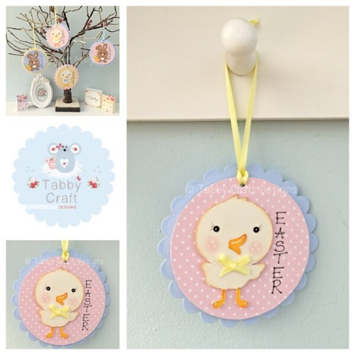 Easter Chick Dangly - Pink and Blue