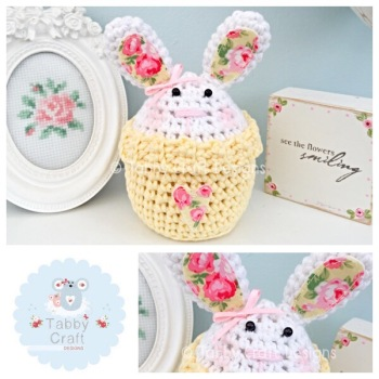 Bunny Peek-a-Boo Buddy - White and Lemon