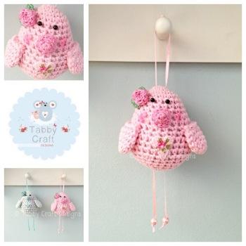 Small Rosebud Birdie - Pink