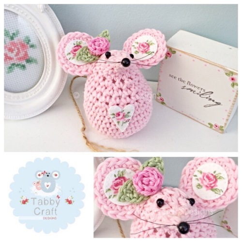 Small Rosebud Mouse -  Pink