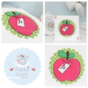 ***Pre Order*** Apple Thank You Card  - Red