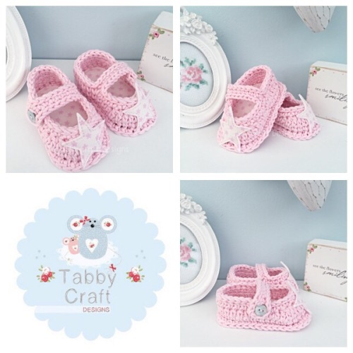 Star Baby Shoes - Pink