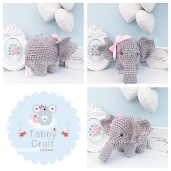 Elephant - Grey and Pink
