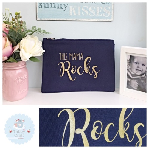 Mama Bag - This Mama Rocks - Navy